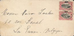 BELGIAN CONGO COVER FROM MATADI 05.02.1925 TO DE PANNE - 1894-1923 Mols: Lettres