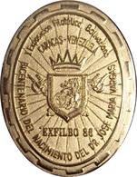 VENEZUELA. MEDALLA I EXPOSICIÓN FILATÉLICA BOLIVARIANA. CARACAS 1.986. CON CAJA ORIGINAL - Profesionales / De Sociedad