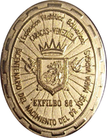 VENEZUELA. MEDALLA I EXPOSICIÓN FILATÉLICA BOLIVARIANA. CARACAS 1.986. CON CAJA ORIGINAL - Professionals / Firms