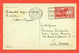 DECENNALE MARCIA SU ROMA-20 CENT.-12/6/1933 - DA ROMA PER LA SPEZIA - Marcophilia