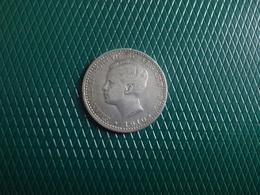 100  Reis 1910   D.Manuel I,    Silver - Portugal