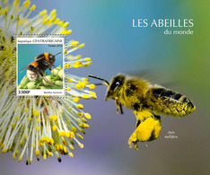CENTRAL AFRICA 2019 - Bees, S/S Official Issue - Honingbijen