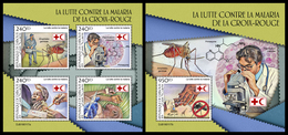 DJIBOUTI 2019 - Malaria Mosquito, M/S + S/S. Official Issue - Insecten