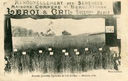 Blois Leroi Et Cril  Grainiers Maison Compere Grandes Journées Agricoles De Loir Et Cher Médaille D'or - Blois