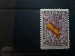 ESPAGNE / ESPANA / SPAIN / SPANIEN ,1936  Yvert No 575 A, Drapeau National MALAGA,, 4 PESETAS  Neuf * MH, - 1931-Heute: 2. Rep. - ... Juan Carlos I