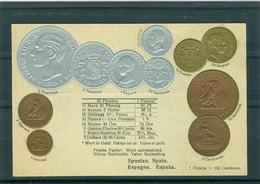 Relief - Gaufrée - Embossed - Prage - Espagne - TBE - Monnaies (représentations)