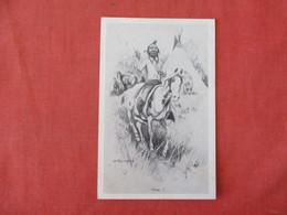 Signed Artist   How!    Ref 3284 - Indiens De L'Amerique Du Nord