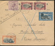 BELGIAN CONGO TELEGRAPH CANCELATION COVER BY AIR FROM THYSVILLE 10.03.1926 TO TCHECO ( CORRECT RATE 1FR + AIR 2.50FR) - Congo Belge