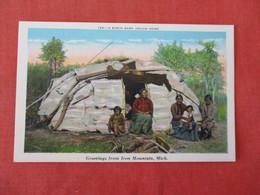 Birch Bark Indian Home  Iron Mountain Michigan    Ref 3284 - Indiens De L'Amerique Du Nord