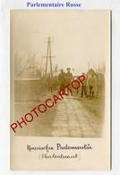 PARLEMENTAIRE Russe-Front De L'EST-CARTE PHOTO Allemande-Guerre 14-18-1WK-Militaria- - Oorlog 1914-18