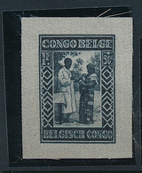 BELGIAN CONGO MISSIONARIES 1930 ISSUE SILK PROOF - Congo Belge