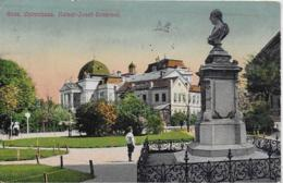 AK 0216  Graz - Opernhaus Und Kaiser-Josef-Denkmal Um 1918 - Graz