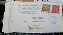 ARCO TRENTO DITTA MOBILIFICIO MOBILI TAPEZZIERE DEL FABBRO BUSTA VB1969 RACCOMANDATA 50 LIRE CEPT +180 GINESTRA  HB9245 - Trento