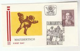 1974 Special FDC MAULBERTSCH Art Stamps Cover AUSTRIA - Art