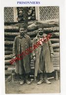 PRISONNIERS Noirs Francais-CARTE PHOTO Allemande-Guerre 14-18-1WK-Militaria-Feldpost- - Oorlog 1914-18