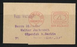 Österreich Streifband 1938 AFS - 1918-1945 1ste Republiek
