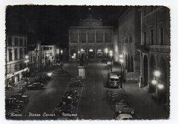Rimini - Piazza Cavour - Notturno - Mezzi Dell'Epoca - Viaggiata Nel 1957 - (FDC15124) - Rimini