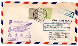 Lettre Par Avion De Macau Pour USA (28.04.1937) First Flight - Poste Aérienne