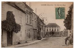 Laignes : Un Coin De La Place (Editeur Chaseré) - Autres Communes