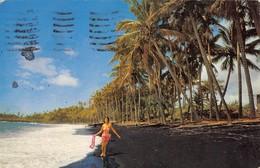 "0383 ""BLACK SAND BEACH - KALAPANA - HAWAY"" CART. ORIG. SPED. 1972 - Stati Uniti"