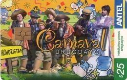 TARJETA TELEFONICA DE URUGUAY, 486a (164) CARNAVAL URUGUAYO. - Uruguay