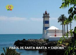 AK Leuchturm Portugal Cascais Santa Marta Lighthouse New Postcard - Leuchttürme