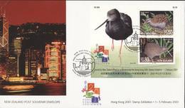 New Zealand 2001 - Cover: FDC - Bird - Oiseaux