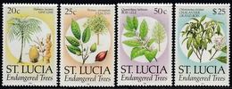 St. Lucia 1990 - Definitive Stamps: Endangered Trees - Mi 963-966 I (year 1990) ** MNH - St.Lucia (1979-...)