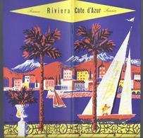 LIVRET 34 PP. + DEPLIANT TOURISTIQUE AU MILIEU 6 VOLETS = GRAND PLAN/VERSO = PHOTOS FRANCE CÔTE D'AZUR RIVIERA - Dépliants Touristiques