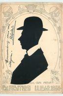 N°12322 - Silhouette - Exposition Liège - Homme Avec Un Chapeau - Quai Mativa - Silhouette - Scissor-type