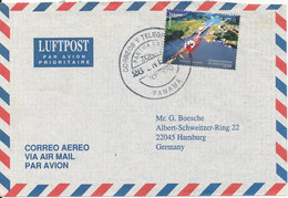 Panama Air Mail Cover Sent To Germany 26-1-1998 Single Franked - Panama