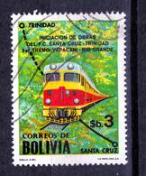 BOLIVIA  USED  TRAIN  STAMP - Bolivie