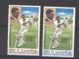 Sainte Lucie :  Yv  227-28  **   Cricket - St.Lucia (1979-...)