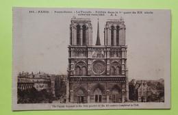 75 PARIS - CATHEDRALE NOTRE DAME - 1940 - CPA Carte Postale Ancienne (vente Reversée Pour La Reconstruction) / 4 - Notre Dame De Paris