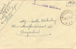 Griffe FRANCHISE MILITAIRE Sur Lettre De Woluwé Vers Borgerhout (1947) - Marcophilie