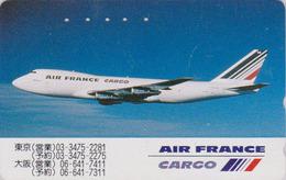 Télécarte Japon / 110-198214 - AIR FRANCE CARGO - AVION - PLANE AIRLINES Japan Phonecard - FLUGZEUG - 2250 - Avions