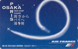 Télécarte Japon / 110-016 - AIR FRANCE - AVION - PARIS OSAKA NON STOP - PLANE AIRLINES Japan Phonecard - FLUGZEUG - 2251 - Avions