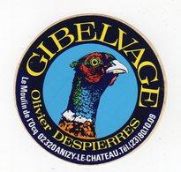 Avr19   84515      Auto Collant   Gibelvage    02 Anizy Le Chateau - Autocollants