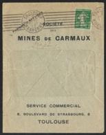 Enveloppe Société Des Mines De Carmaux-Perforé- Ancoper  C.X. 381 - France