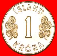 + CANADA 4 SPIRITS (1957-1975): ICELAND ★ 1 CROWN 1971 MINT LUSTER! LOW START ★ NO RESERVE! - IJsland