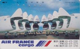 Télécarte Japon / 110-83703 - AIR FRANCE CARGO - AVION - PLANE AIRLINES Japan Phonecard - FLUGZEUG - 2252 - Avions