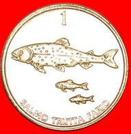 + FISH: SLOVENIA ★ 1 TOLAR 1998 MINT LUSTER! LOW START ★ NO RESERVE! - Slovenia