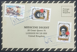 1984, IRAN, Medicine Digest, Carte Response, Bushehr - London - Iran
