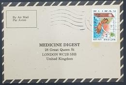 1985, IRAN, Medicine Digest, Carte Response, Qom, Ghom - London - Iran
