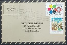 1985, IRAN, Medicine Digest, Carte Response, Mahabad - London - Iran