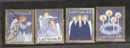 Christmas: Full Set Of 4 Used Stamps: Latvia, 1994, Mi#382-385 - Christmas
