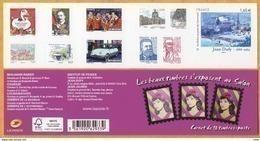 Carnet Adhésif, 2014  N° BC 1023 Les Beaux Timbres S'exposent Au Salon - Booklets