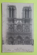 75 PARIS - CATHEDRALE NOTRE DAME - 1904 - CPA Carte Postale Ancienne (vente Reversée Pour La Reconstruction) / 12 - Notre Dame De Paris