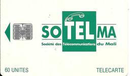 CARTE-PUCE-AFRIQUE-MALI-SOTELMA-60U-SC7-V° N° Rge C 53149142-UTILISE-TBE - Mali