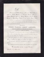 TERMONDE DENDERMONDE Pierre-François JANSSENS Directeur Ministère Des Finances 1818-1884 Famille BAUWENS - Décès